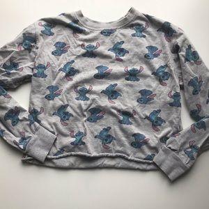 Disney Stitch crop top long sleeve